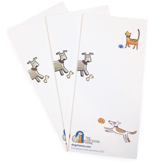 The Lost Dogs' Home Slimline Magnetic Notepad