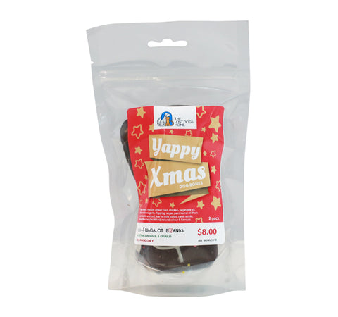 Yappy Xmas Dog Bones (2 Pack) - SOLD OUT