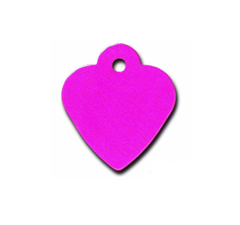 Pet ID Tag - Small Heart - Pink