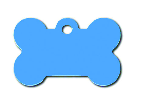 Pet ID Tag - Small Bone - Blue