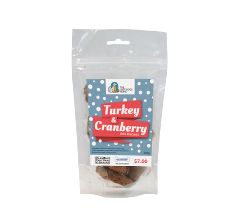 Turkey & Cranberry Dog Biscuits