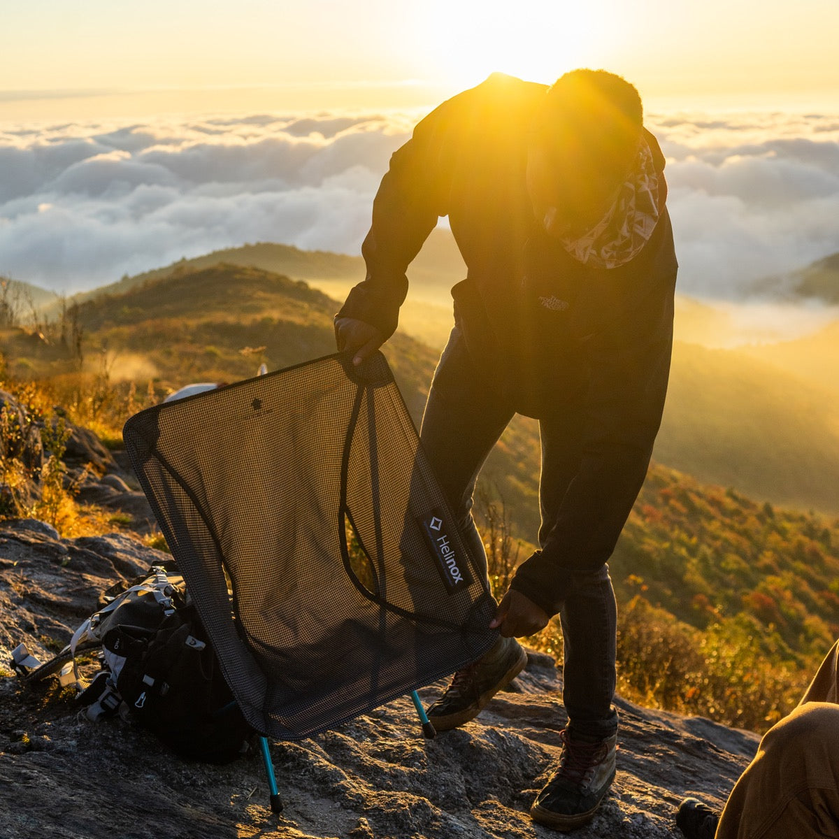"""THE CHAIR ZERO FROM HELINOX REVOLUTIONIZED THE BACKPACKING CHAIR WORLD."""