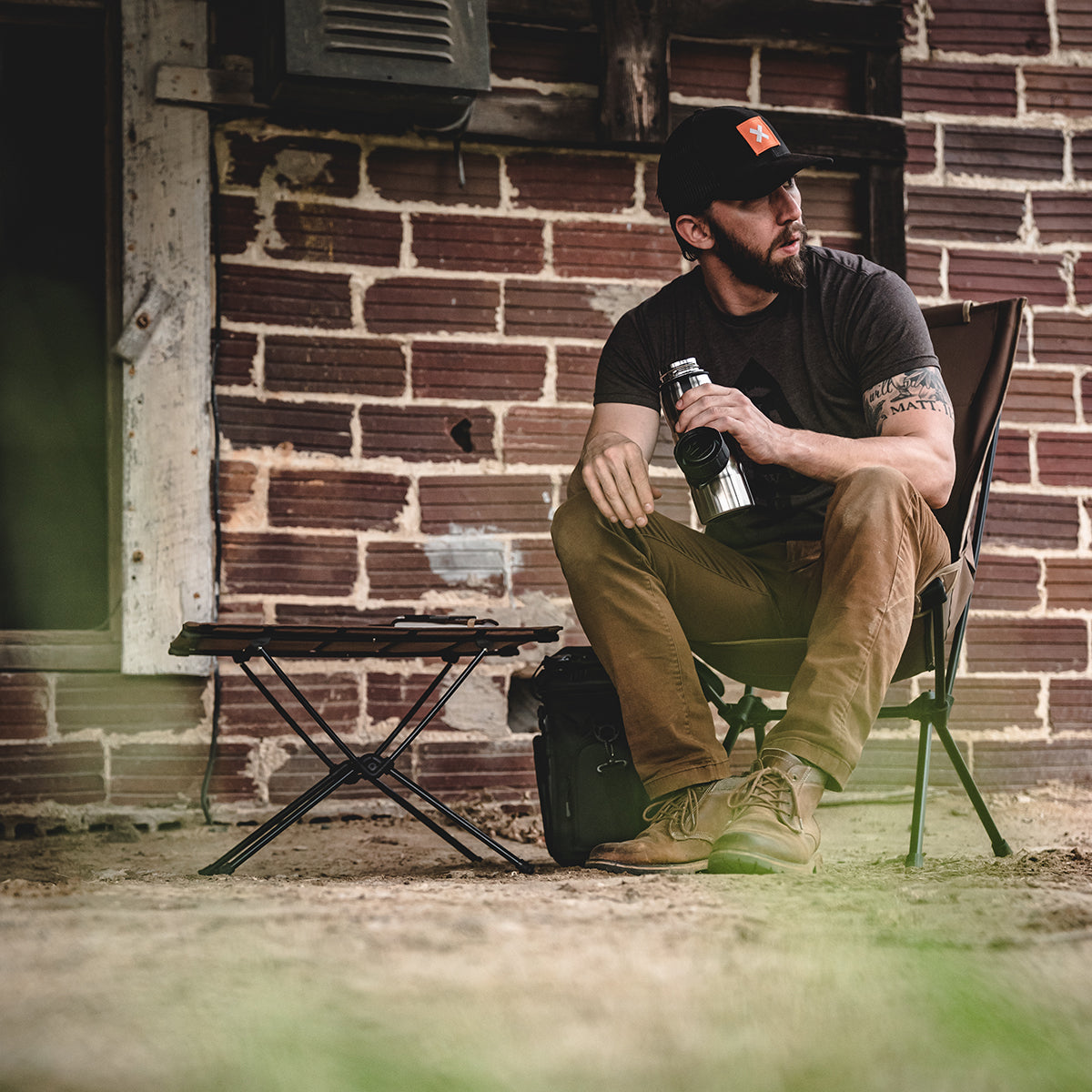 Helinox + Filson Collaboration Filson Tactical Sunset Chair
