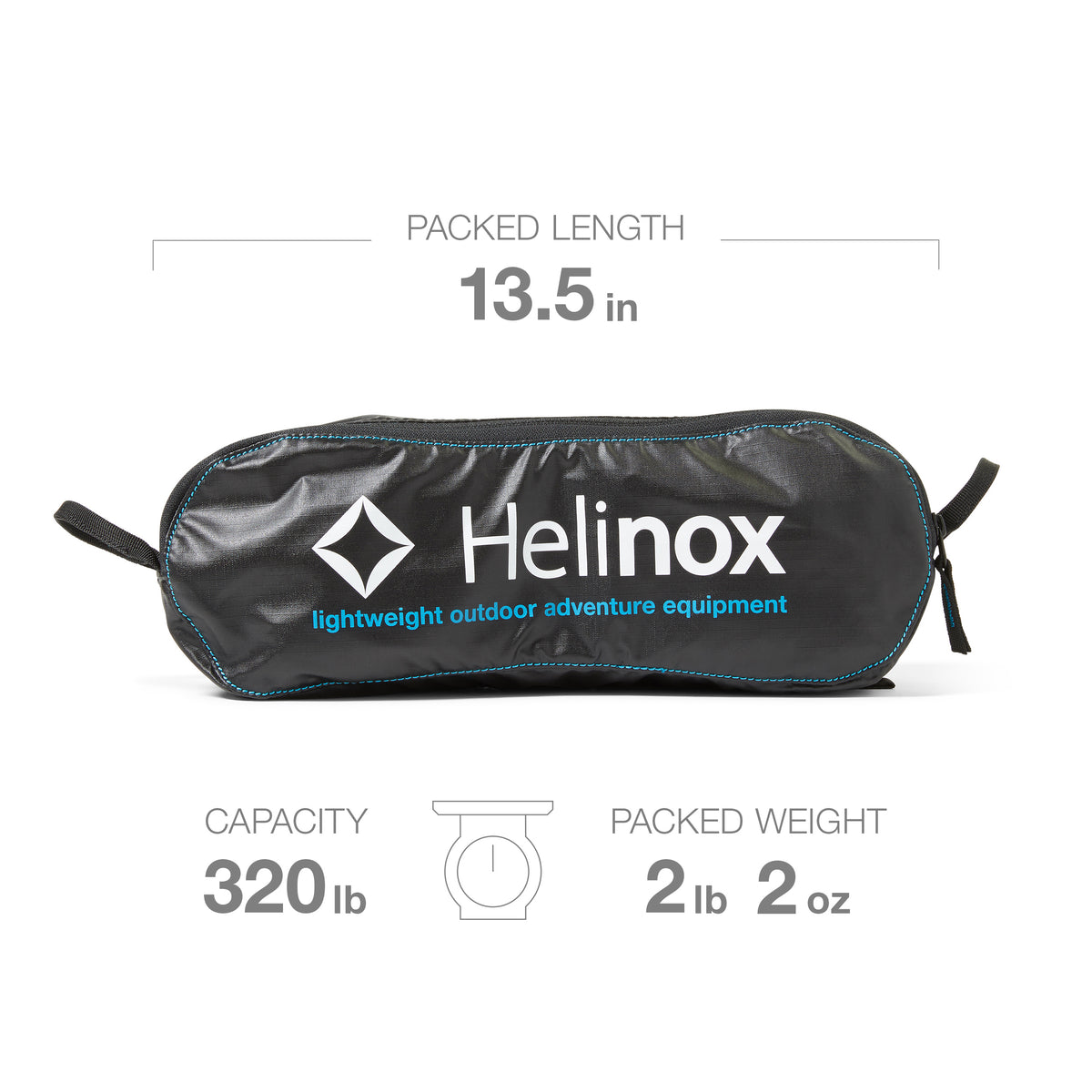 """Helinox's Chair One has all the good stuff—it's collapsible, it packs easily into its carrying case, and it supported a 6'4"