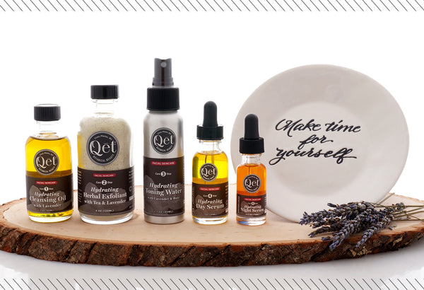 Qēt Botanicals skin glowing set