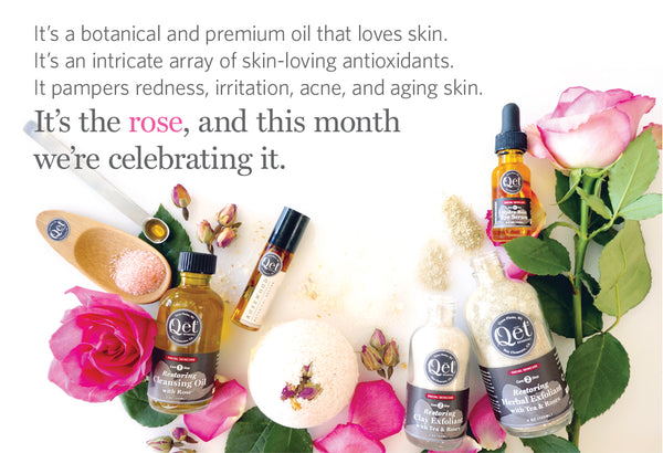 Qēt Botanicals celebrating rose month