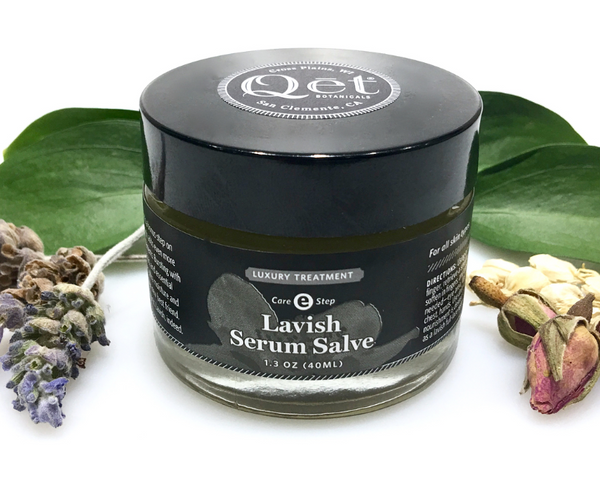 Qēt Botanicals lavish serum salve