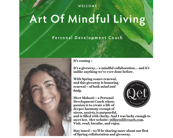 Qēt Botanicals mindful giveaways