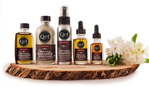 Qēt Botanicals April skin suite
