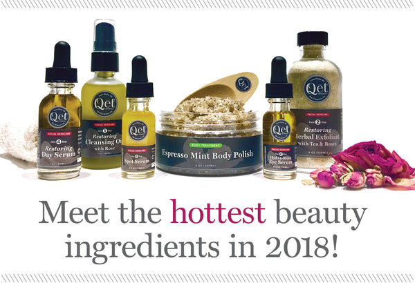 Qēt Botanicals anti-aging skincare ingredients