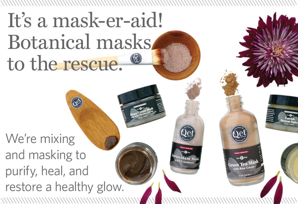 Qēt Botanicals clean beauty botanical masks