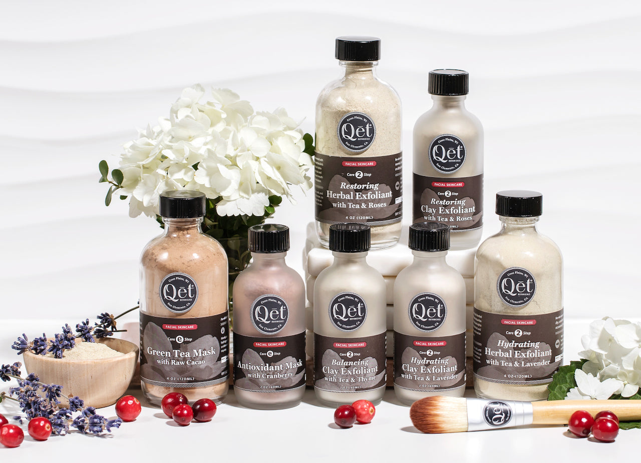 Qet-Botanicals-Clay-and-Herbal-Exfoliants-and-Skincare-Mask-Family