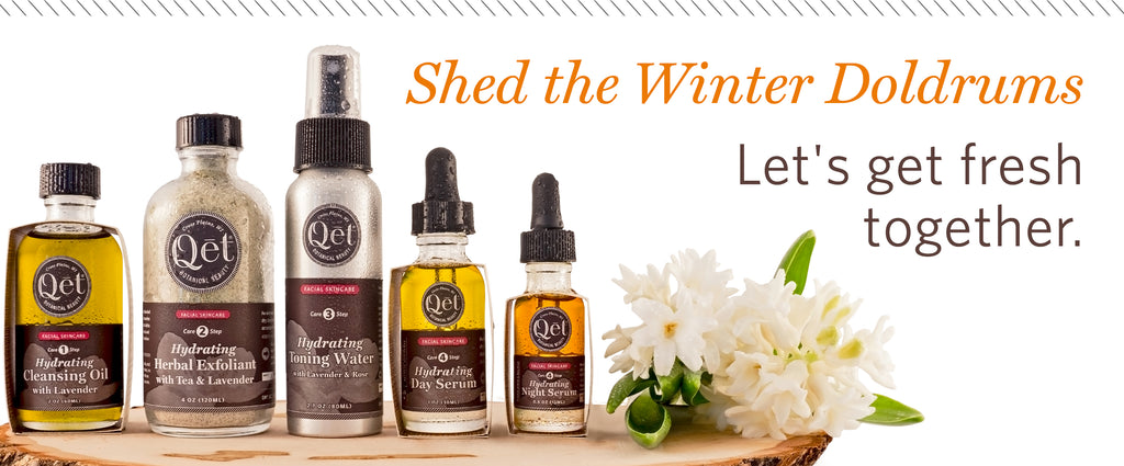 Qēt Botanicals winter hydrating skin set