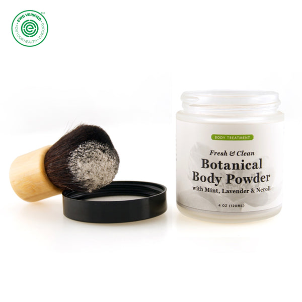 Qēt Botanicals | Botanical Body Powder and Brush Set