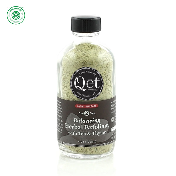 Qēt Botanicals| Balancing Herbal Exfoliant with Tea & Thyme