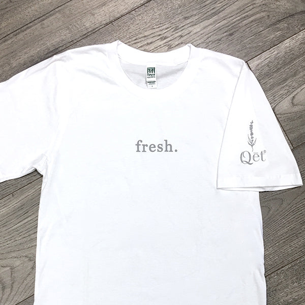 Qēt Botanicals | Organic 100% Cotton USA Made T-Shirt in Salt