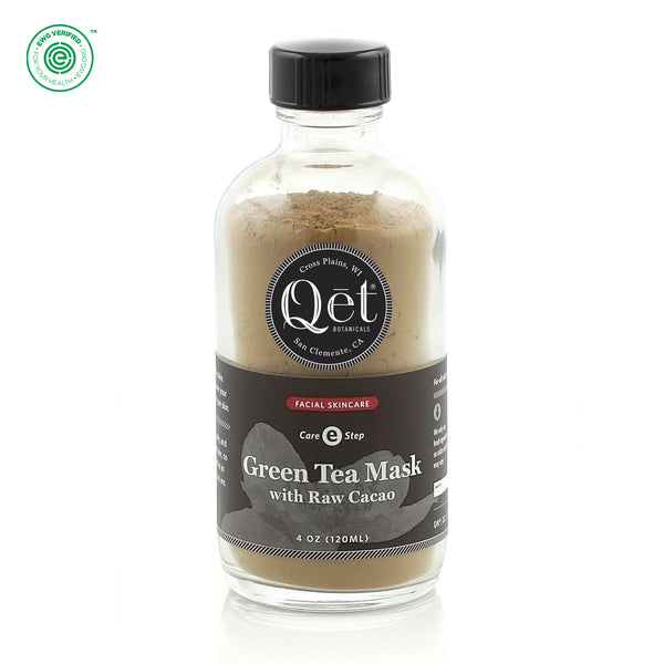 Qēt Botanicals | Green Tea Mask with Raw Cacao