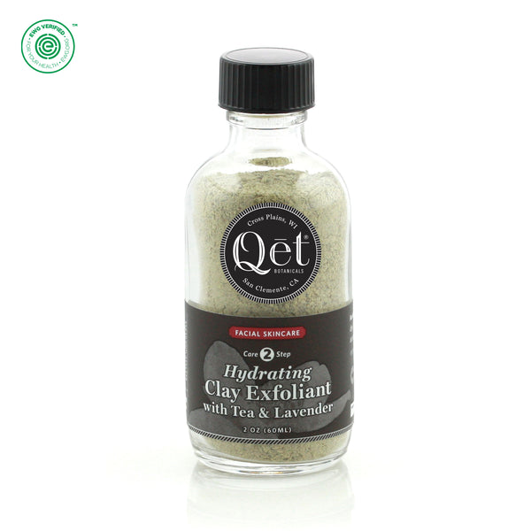Qēt Botanicals | Hydrating Clay Exfoliant with Tea & Lavender