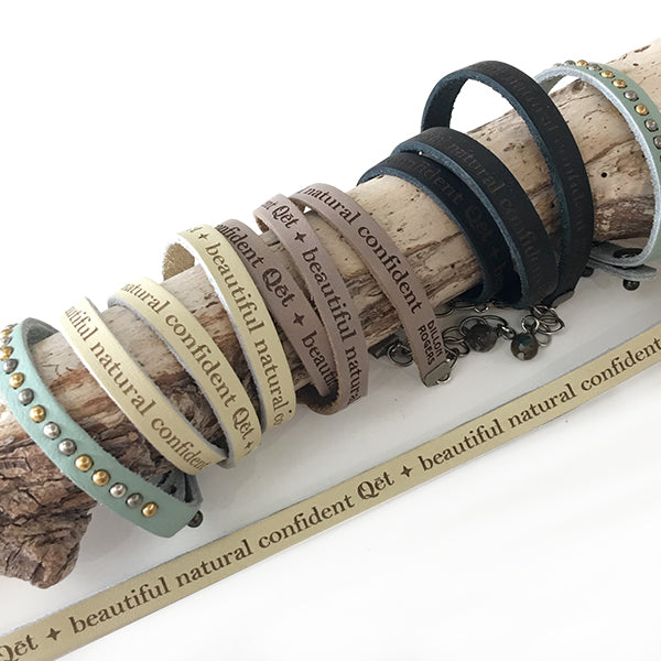 Qēt Botanicals | Mindful Embellished Dream Bracelet in Ice Blue