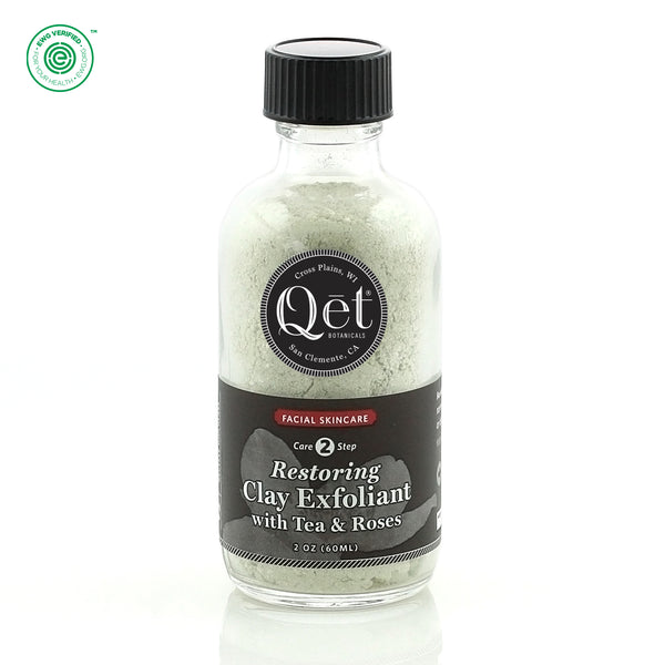 Qēt Botanicals | Restoring Clay Exfoliant with Tea & Roses