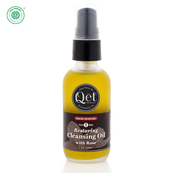Qēt Botanicals | Restoring Cleansing Oil with Rose