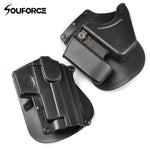 Right Handed Paddle Holster Magazines CU9 Black Handcuff Holster Pistol Holster for Outdoor Hunting Airsoft Gun Accessories
