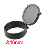 5-Size High Quality Scrub Lens Cover for 39mm 46mm 47mm 57mm 64mm Diameter Scope Lens Dustproof Cap of Hunting Gun Accessories