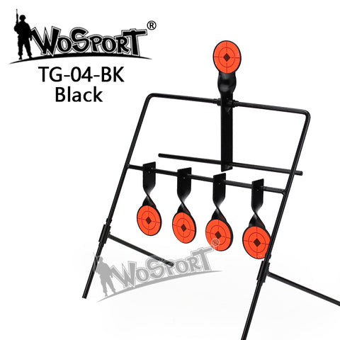 5-Plate Reset Shooting Target Tactical Metal Steel Slingshot BB gun Airsoft Paintball Archery Hunting Decoy Outdoor & Indoor