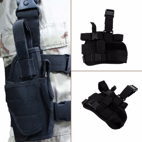 Outdoor Adjustable Practical Puttee Bag Leg Thigh Holster Pouch Outdoor Hunting Airsoft Military Tactical new
