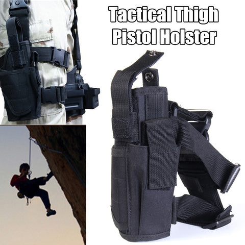 Waterproof Thigh Pistol Holster Pouch Adjustable Military Tactical Hunting Army Revolver Drop Leg Holster Outdoors