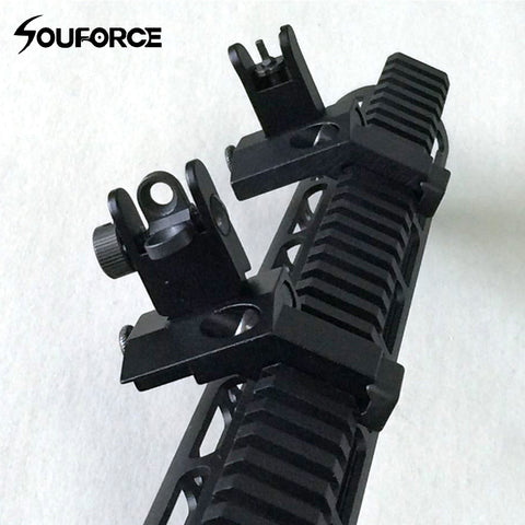 1 Pair US Tactical BUIS Front and Rear Side Sight Flip Up 45 Degree Rapid Transition Iron Sights of Hunting Gun Accessories