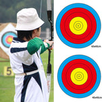 2 pcs 60*60CM Shooting target paper Archery Targets Bow Arrow Gauge  Outdoor Sports Training Full Ring
