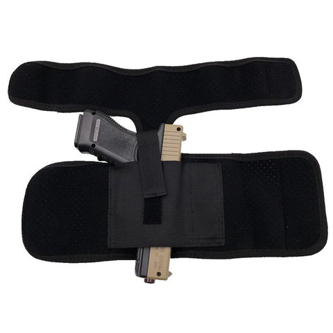2018 New Tactical Padded Concealed Ankle Holster Black Hunting Bag Belt Strap Belt Ankle Leg Gun Holster Pouches