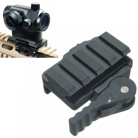 Tactical QD Quick Detach Riser Base 20mm Picatinny Rail Scope Mount Adapter