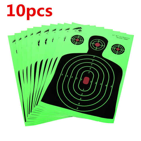 10PCS Shots Paper Target 45*28cm Shooting Targets Reactive Splatter Gun Rifle
