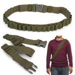 Military Hunting Shotgun Bullet Bandolier Cartridge Holder Belt Up To 28 Shells