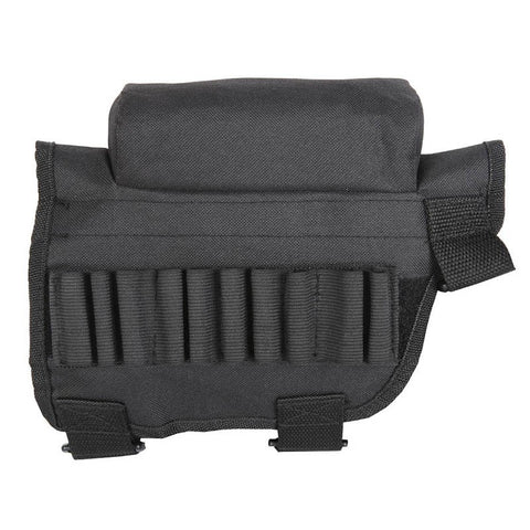 10 x 8 x 1 inches Tactical Buttstock Cheek Rest with Ammo Carrier Case Holder