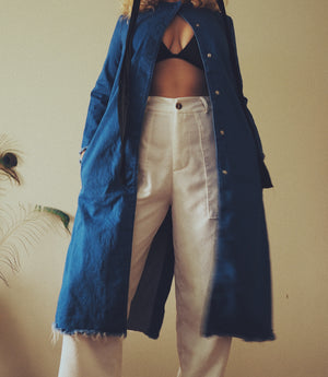 Blue Denim Long Jacket