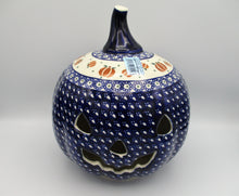 "Load image into Gallery viewer, 9"" Jack O Lantern Pumpkin Candle Holder"