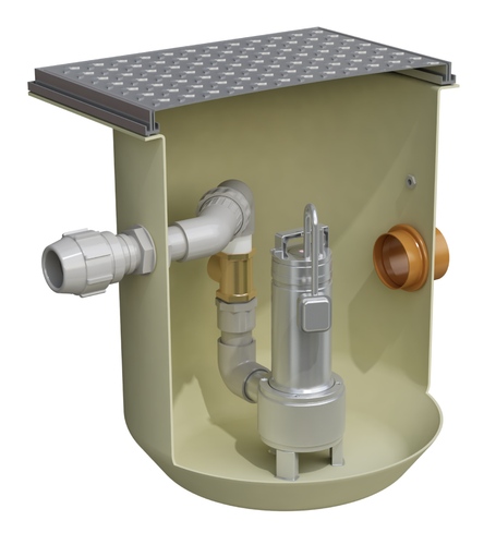 Clearwater 200L Compact Pump Station - Sewage
