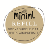 Bodywash + Bubble Bath Refill - Pink Grapefruit + Aloe Vera - per 50ml