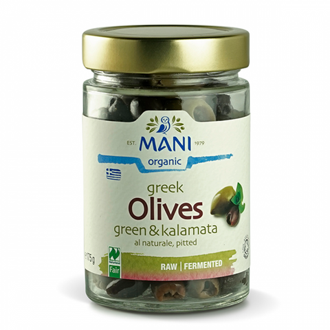Olives Kalamata & Green (pitted) - 175g