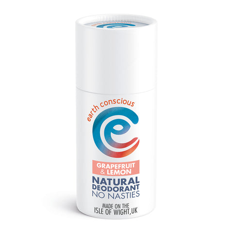 Earth Conscious Natural Deodorant Stick - Grapefruit & Lemon