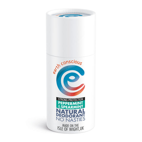 Earth Conscious Natural Deodorant Stick - Peppermint & Spearmint (Strong Protection)