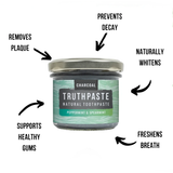 Truthpaste - Charcoal: Peppermint & Spearmint 100g