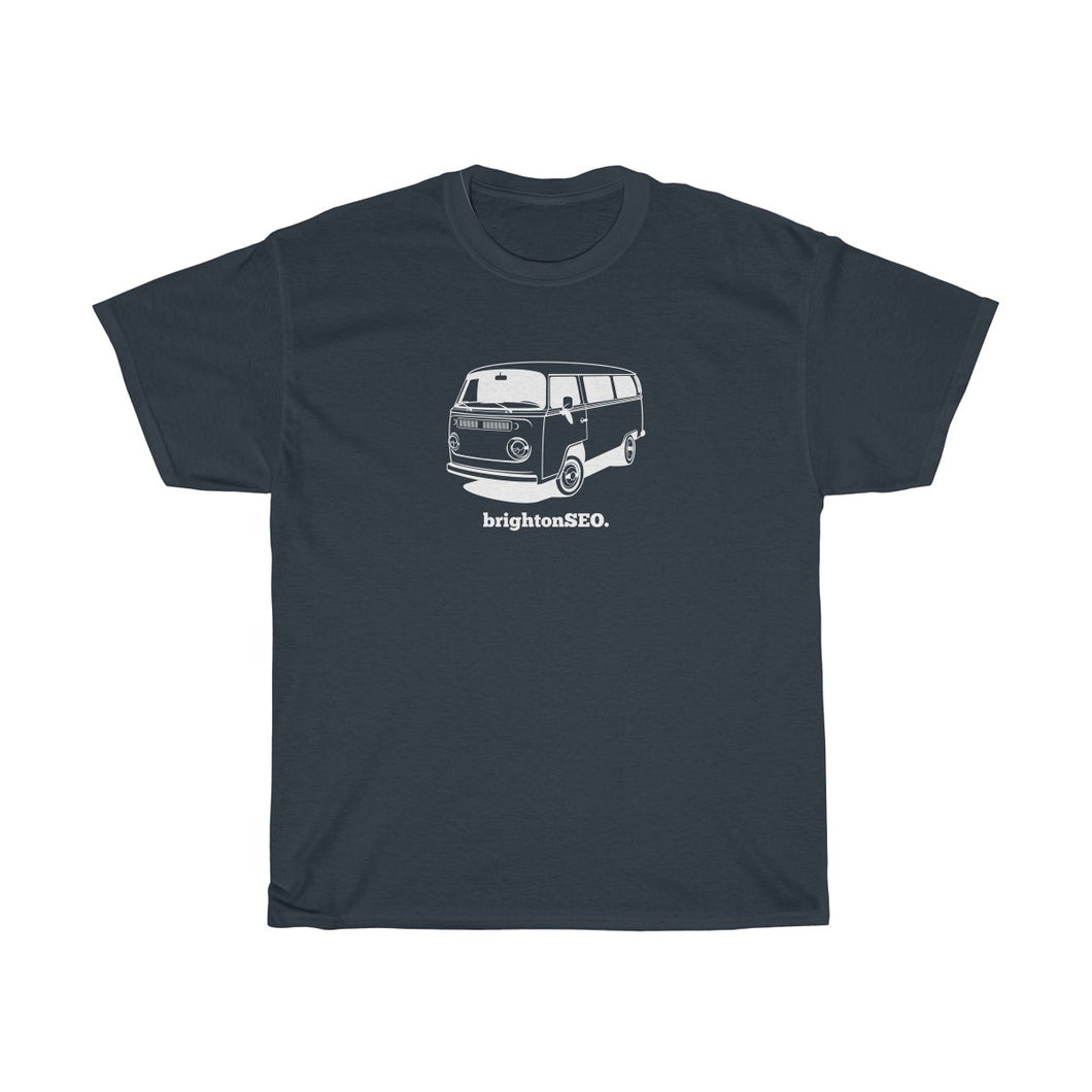 White BrightonSEO Campervan Unisex Heavy Cotton Tee
