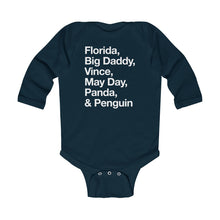 Load image into Gallery viewer, Helveltica Updates - Infant Long Sleeve Bodysuit
