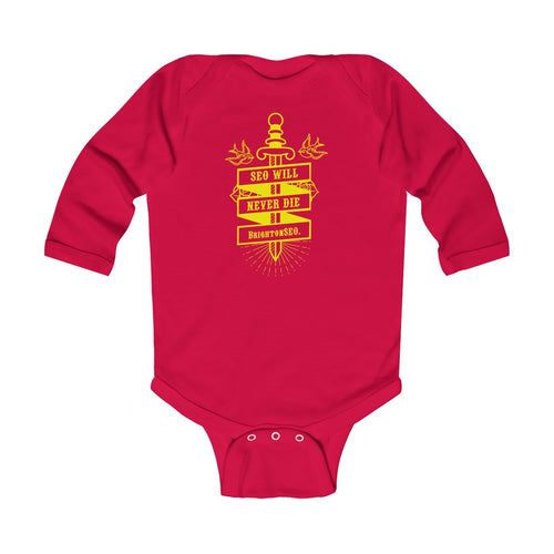 SEO Will Never Die - BrightonSEO Infant Long Sleeve Bodysuit