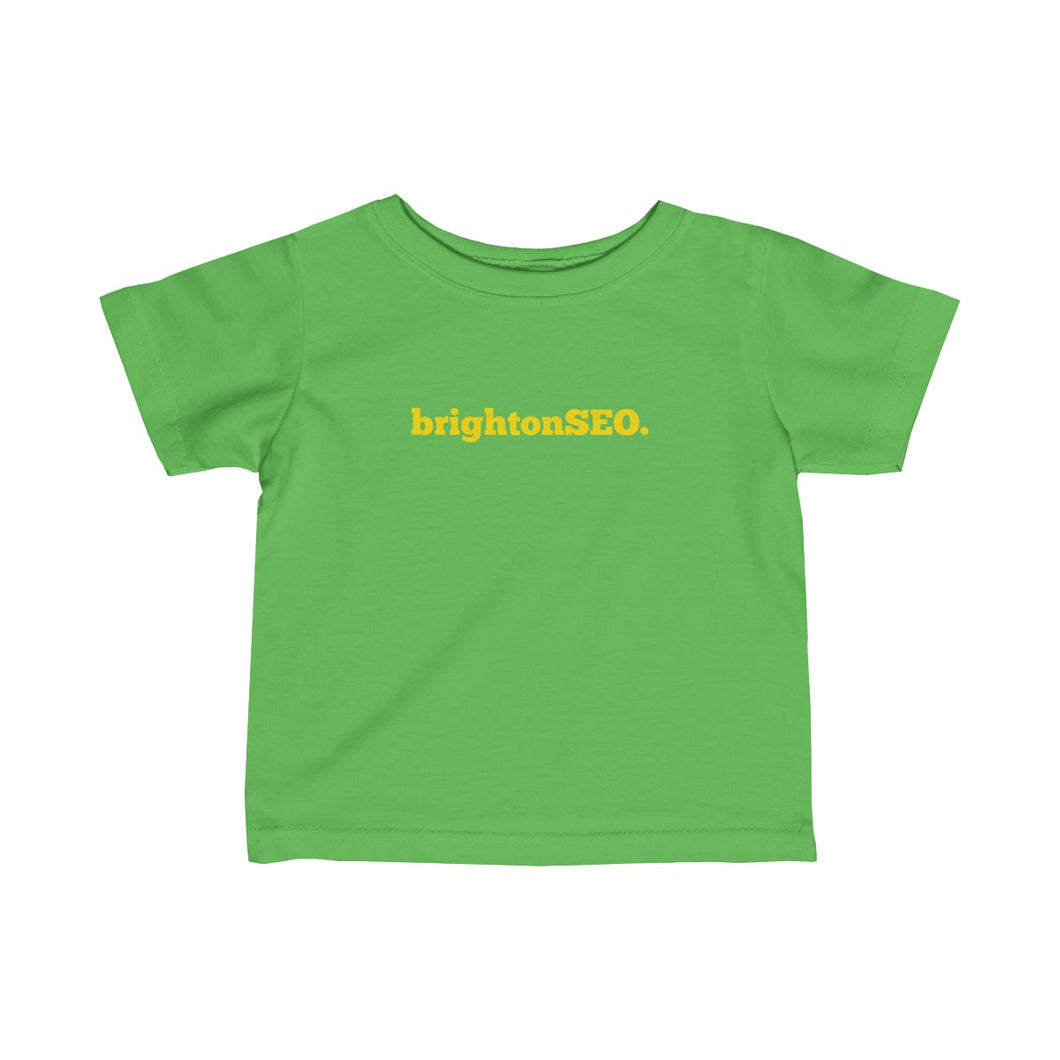 BrightonSEO Logo - Yellow Infant Fine Jersey Tee