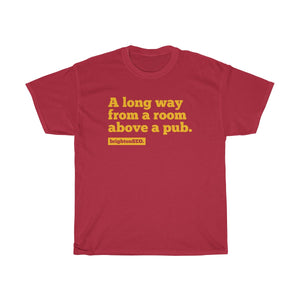 Long way from the room above a pub BrightonSEO - Yellow Unisex Heavy Cotton Tee